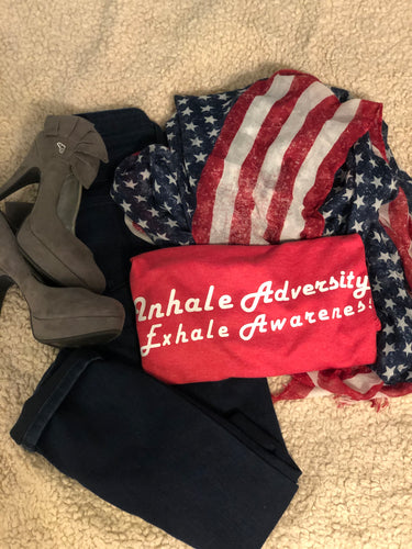 Inhale Adversity Exhale Awareness- unisex
