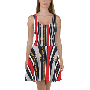 Belt Skater Dress, woman clothing, cocktail atire,  unique dressses, special dress, teen dresses.