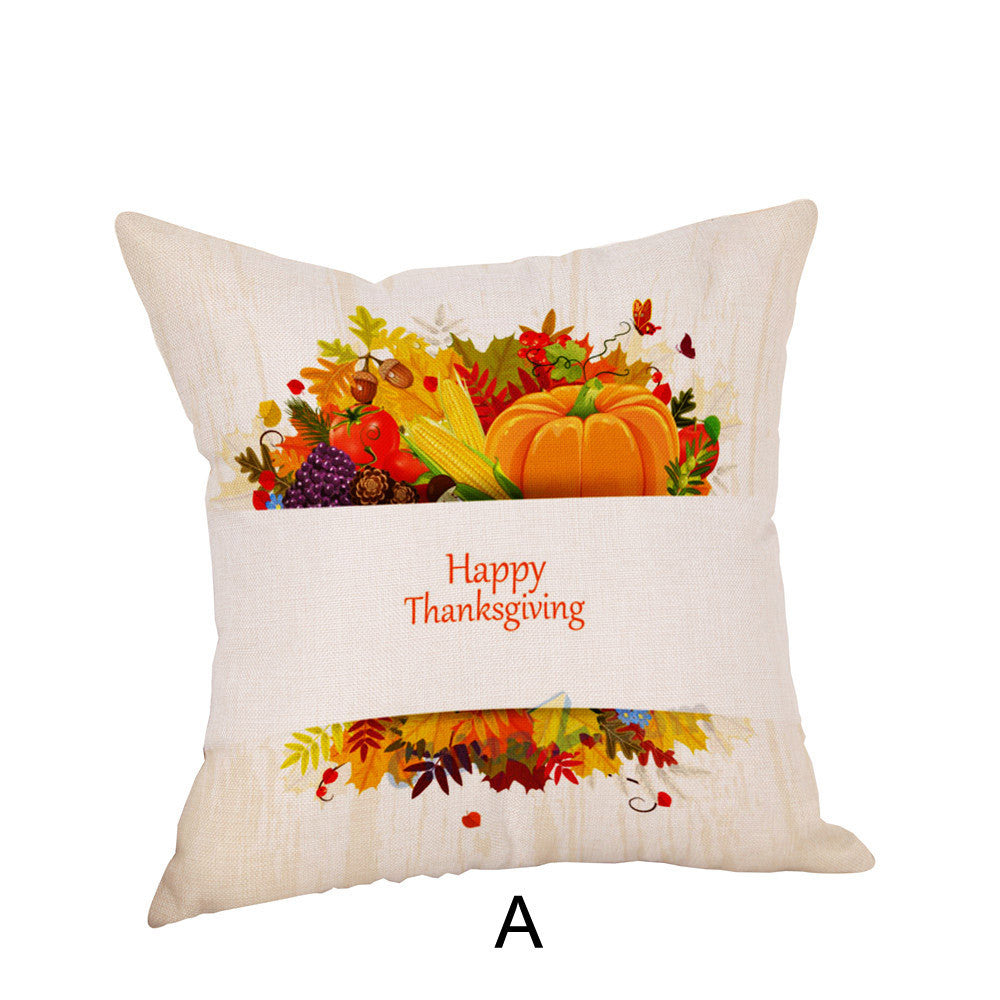 Happy Thanksgiving Pillow Cases  Linen Sofa Cushion Cover Home Decor - Marianade'Dick,topfitnessproducts,raceofchampions