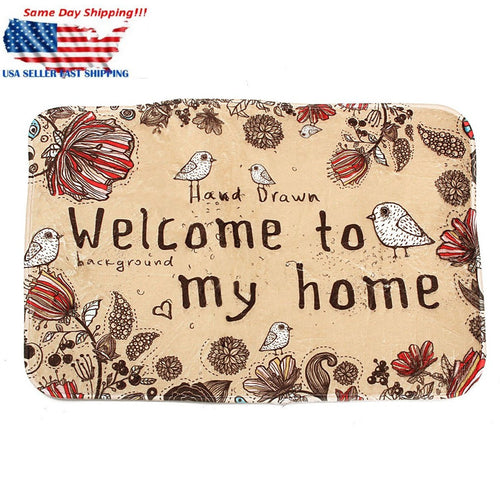 Non Slip Welcome to My Home Durable Floor Mat Doormat Carpet Indoor 60X40cm - Marianade'Dick,topfitnessproducts,raceofchampions