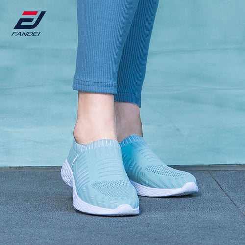 FANDEI Women Sneakers Summer Running Shoes For Woman Outdoor Sports Slip-on Walking Shoe Breathable Mesh For Comfortable Sport - Marianade'Dick,topfitnessproducts,raceofchampions