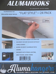 "3"" Flat Insulated and Non Insulated Roof, Alumahooks (24 Pack)"