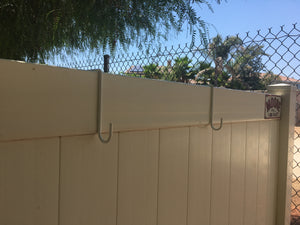 2x6 Powder Coated Steel Hangers for Vinyl Fence (8 Pack)