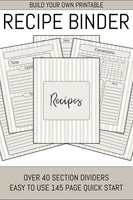 Recipe Book Builder (50+ Pages)