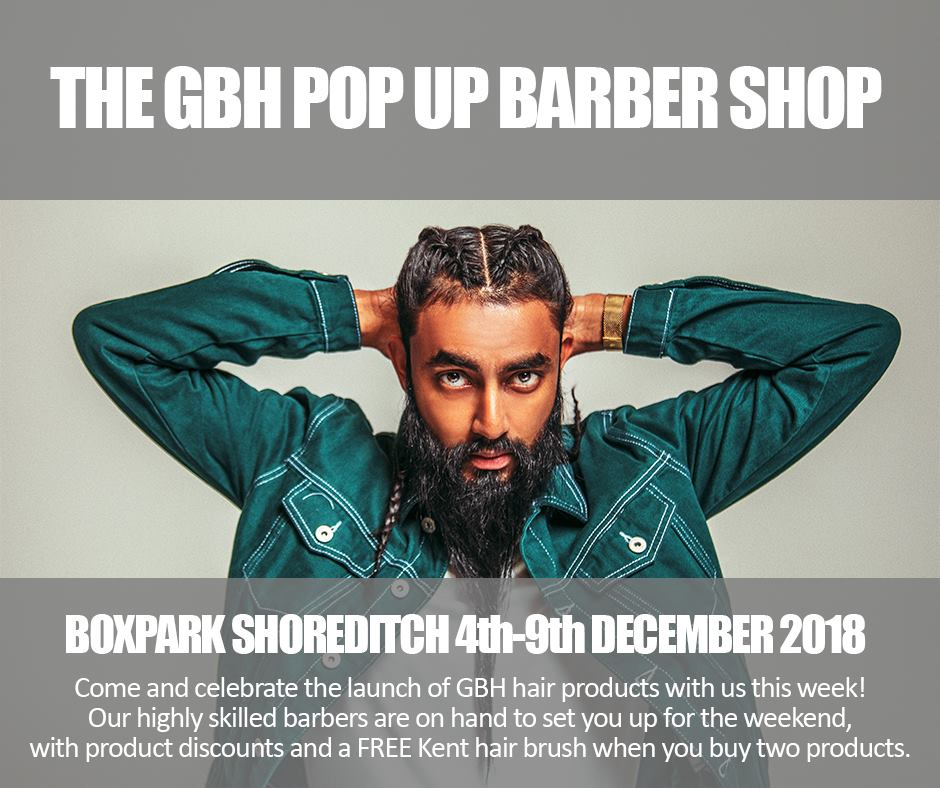GBH Pop Up Barber Shop @ Boxpark Shoreditch