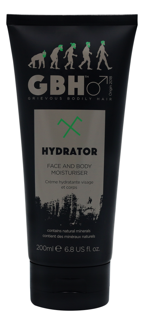 Grievous Bodily Hair Hydrator is a Super Moisturising Face & Body Cream for Men