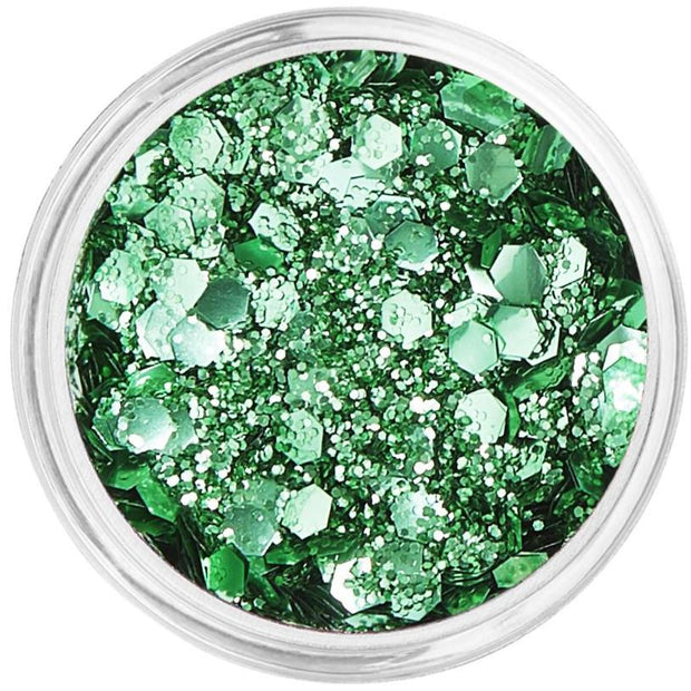 Green Biodegradable Face & Body Chunky Glitter - Go Green