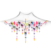 Pink & Iridescent Self Adhesive All In One Body Jewel - Neon Drip