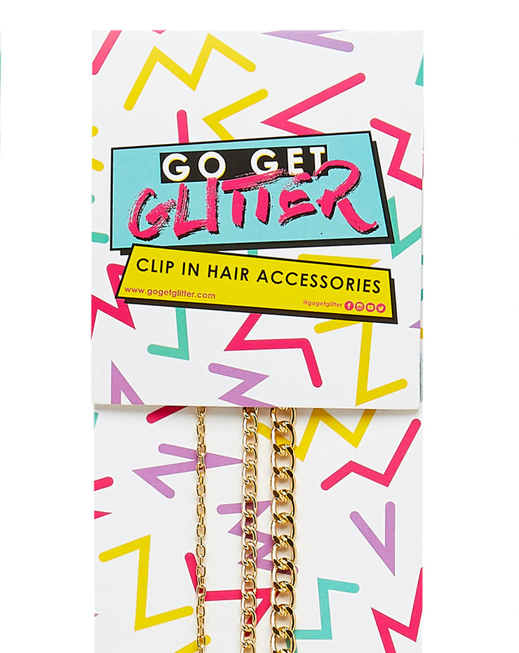 Gold Chain Clip In Hair Accessory Pack