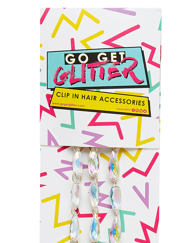 Holographic Jewel Clip In Hair Accessory Pack