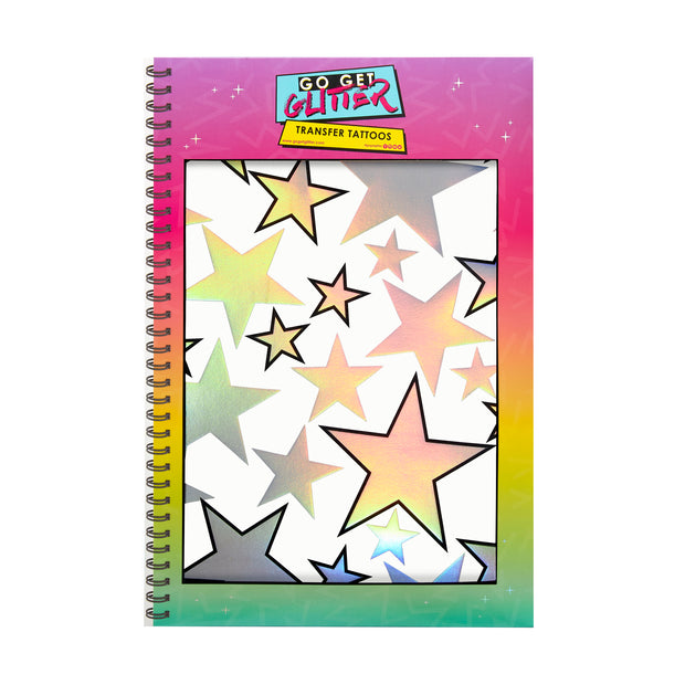 Holographic Silver Star Temporary Tattoo