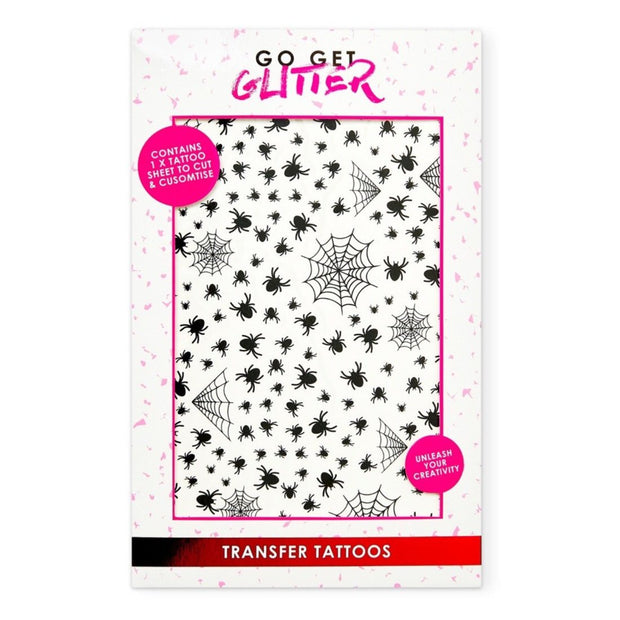 Spiders & Web Transfer Tattoos