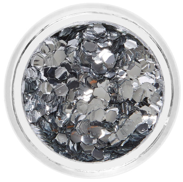 Silver Biodegradable Face & Body Chunky Glitter - Aluminium