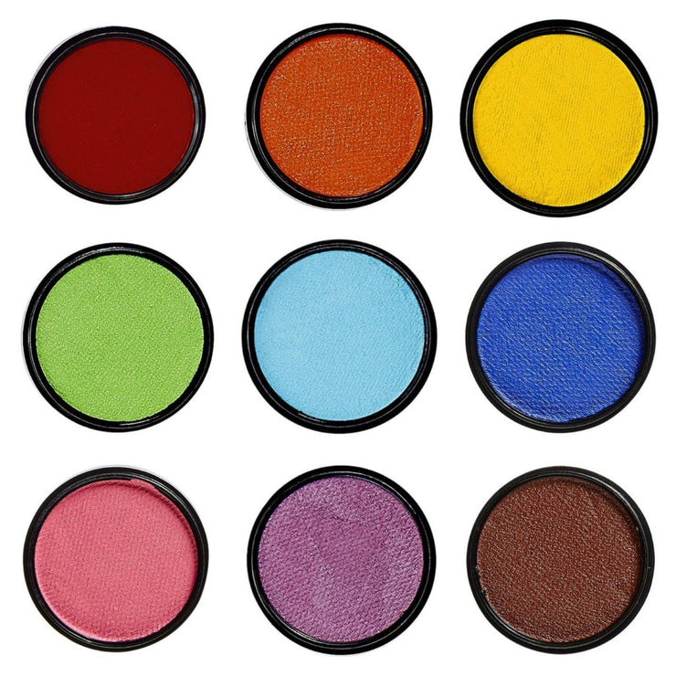 Water Based Face Paint Set of 9