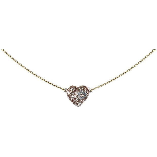 AMORE Heart-Charm Necklace