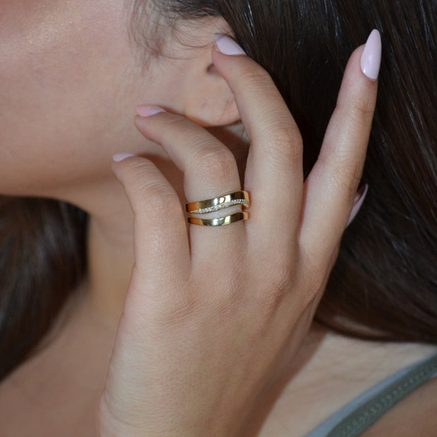 WAVE 18 Karat Statement Ring