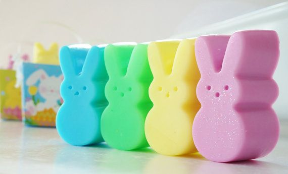 Marshmallow Peeps Soap Bars