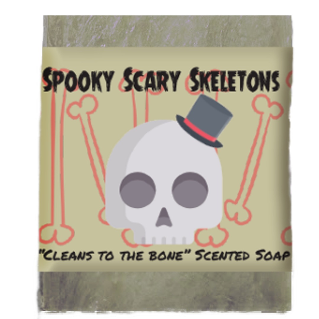 Halloween Spooky Scary Skeleton Scented Soap Bar