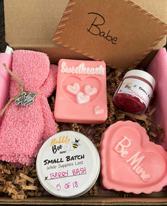 Sweethearts Pink Soap Valentine's Day Gift Set Lg.