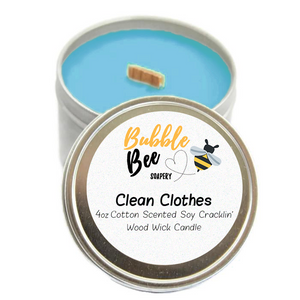 Clean Clothes Scented Tin Candle