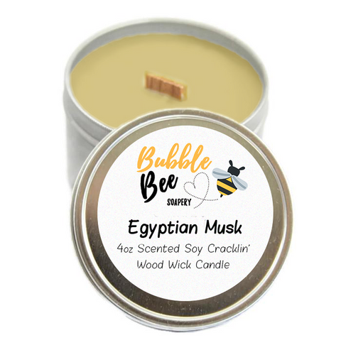 Egyptian Musk Scented Tin Candle