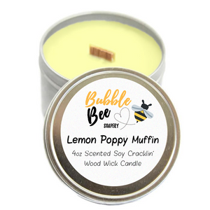 Lemon Poppy Muffin Scented Tin Candle