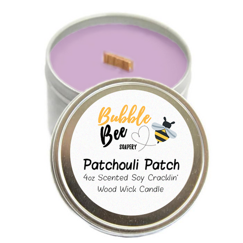 Patchouli Patch Scented Tin Candle