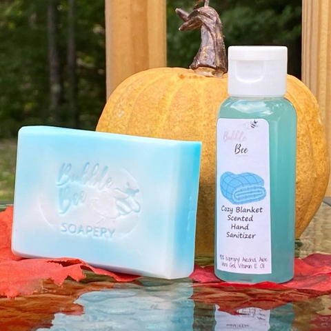 Cozy Blanket Soap Hand Sanitizer Set