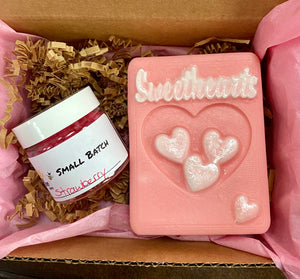 Sweethearts Soap And Lip Scrub Gift Set