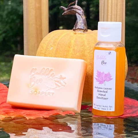 Autumn Leaves Soap Hand Sanitizer Set
