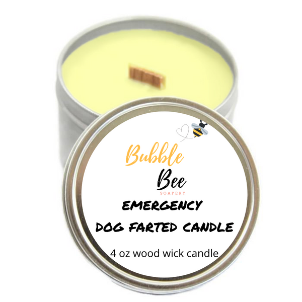 Emergency Dog Farted Tin Candle