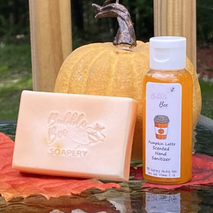 Pumpkin Latte Soap Hand Sanitizer Set