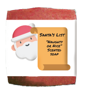 Santa's List Winter Holiday Soap