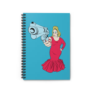 Babs With Gun Spiral Notebook - Ruled Line