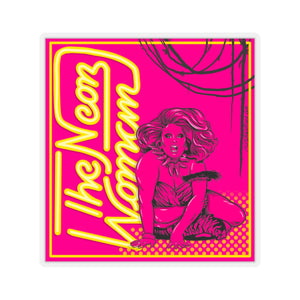 Neon Woman Stickers