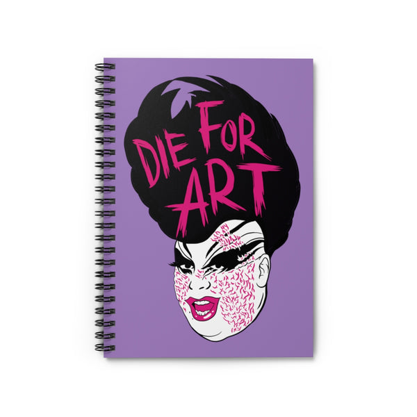 Die For Art Spiral Notebook - Ruled Line - MISTERBNATION