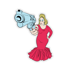 Babs With Gun Sticker