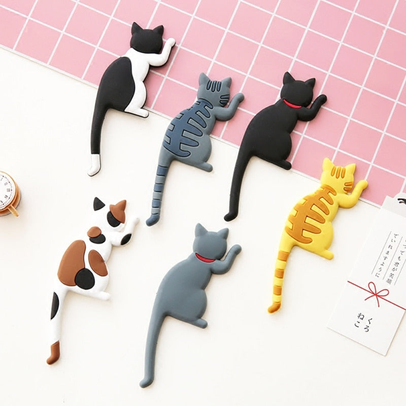Cute Magnetic Multifunctional Cat And Dog Refrigerator Magnet
