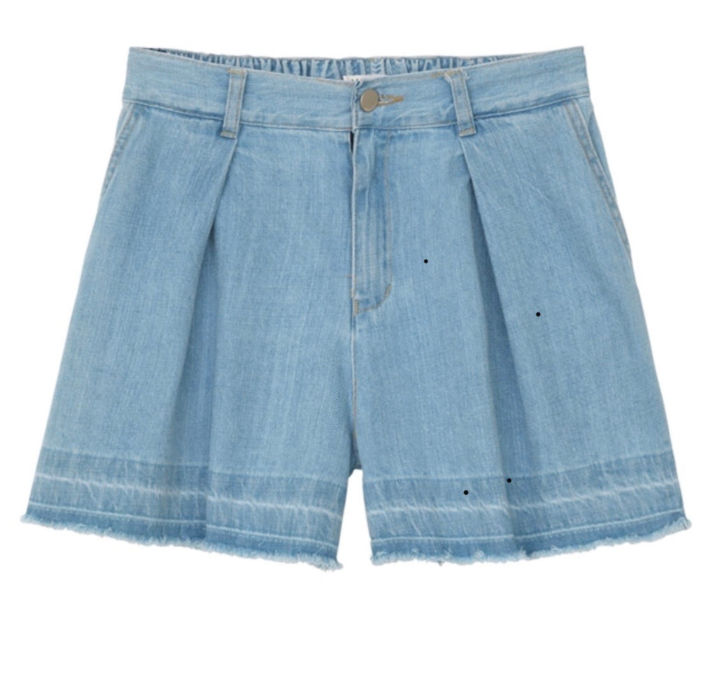 Woven shorts light denim