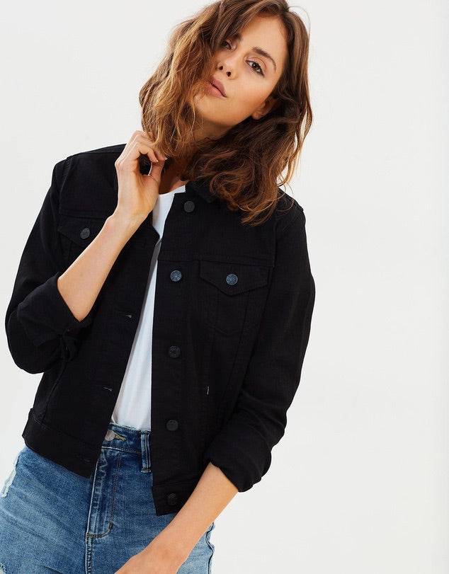 Ex black denim jacket  Riders - shop online NZ Denim Den