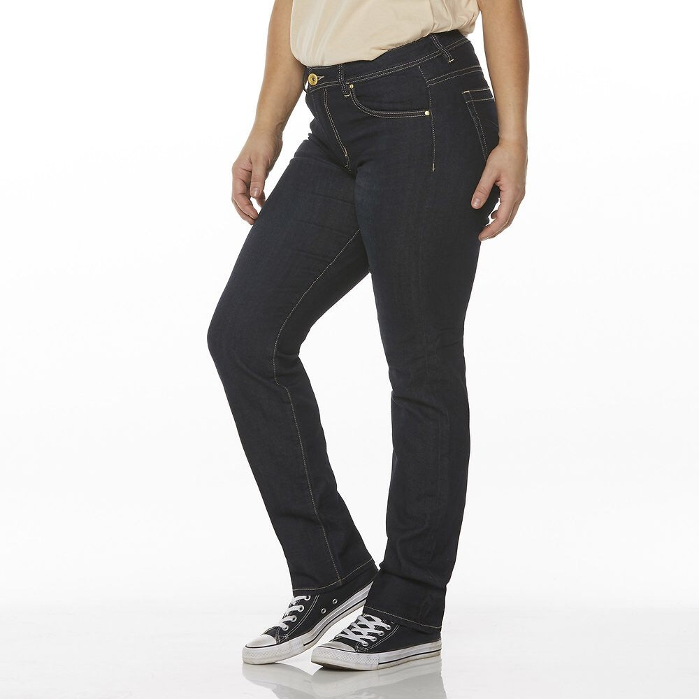 Mid straight worn rinse blue jean  Riders - shop online NZ Denim Den