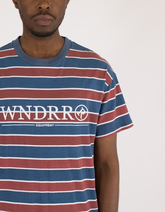 Equipped stripe custom fit tee  WNDRR - shop online NZ Denim Den