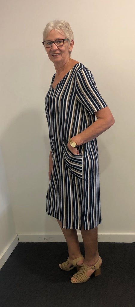 Easy over striped dress
