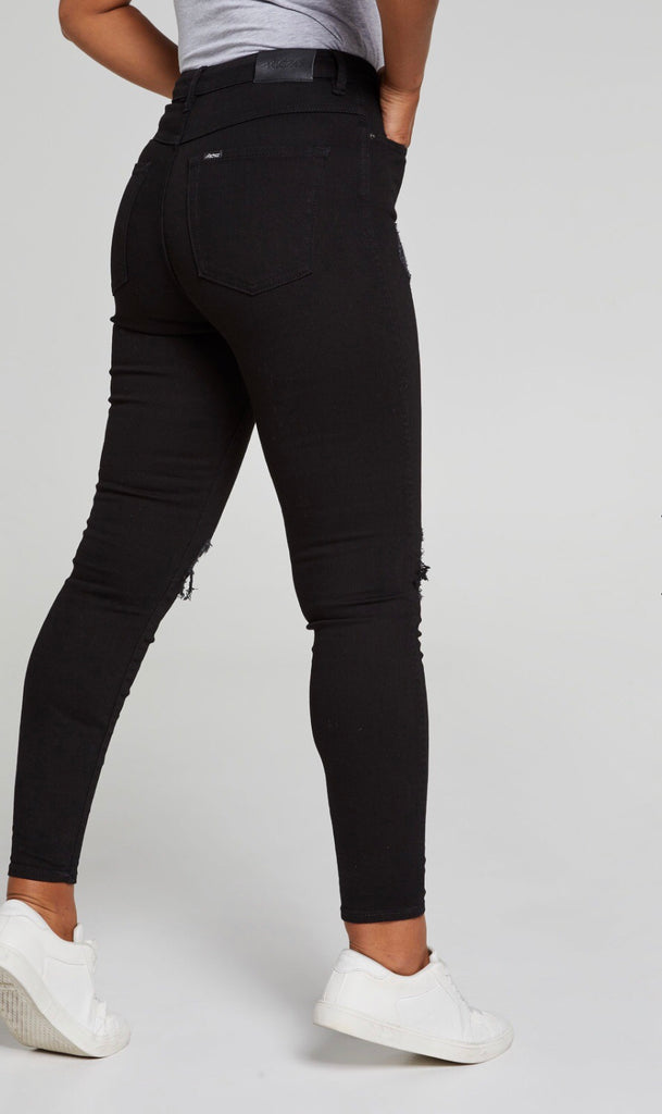 Hi rider torn black jeans  Riders - shop online NZ Denim Den