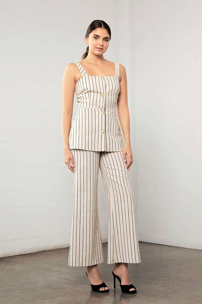 Enchant stripe linen pant