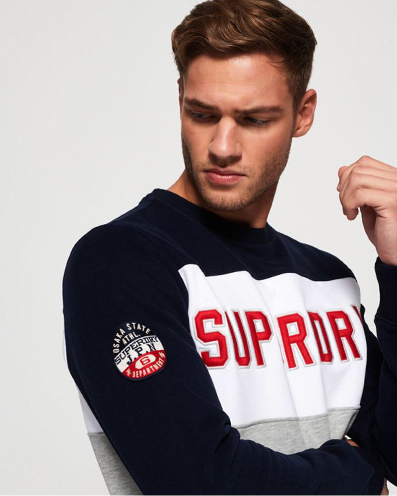 Academy colour block crew  Superdry - shop online NZ Denim Den