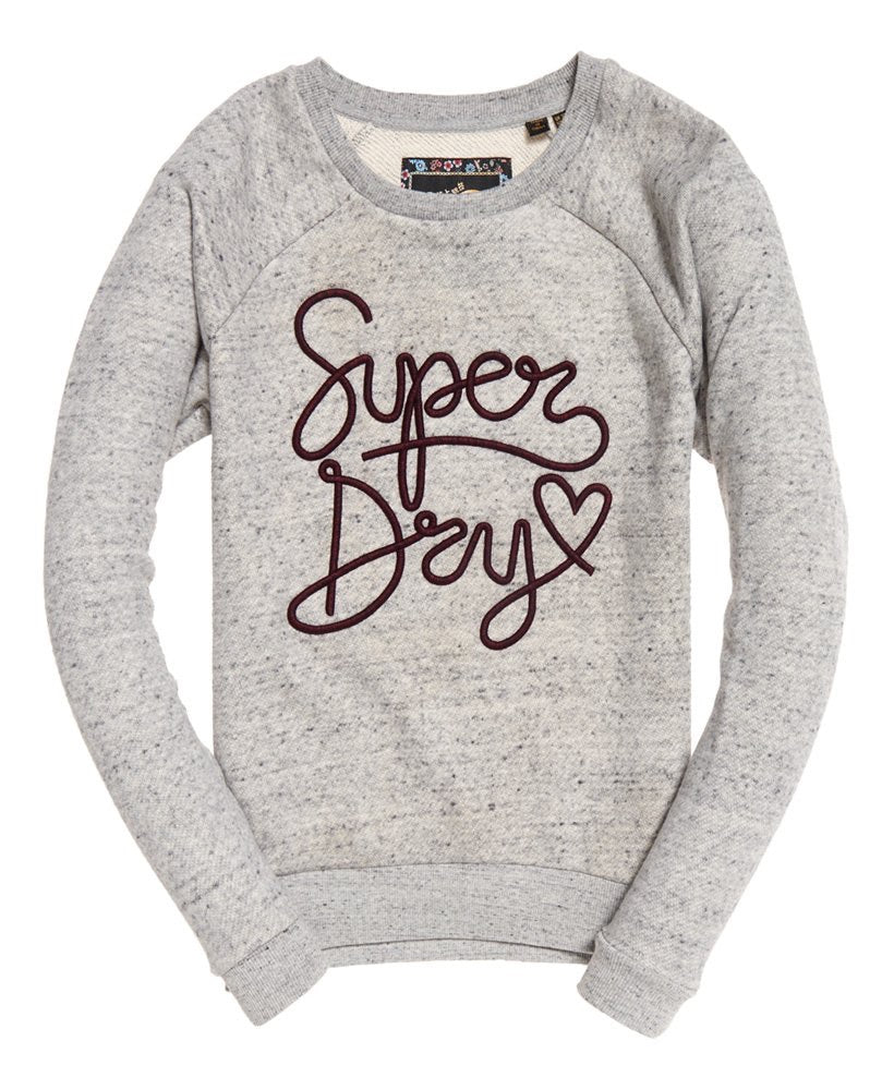 Aria slim crew sweat  Superdry - shop online NZ Denim Den