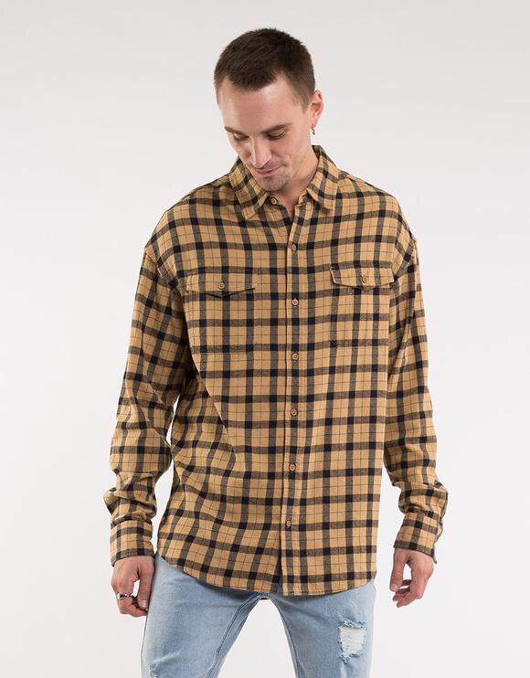 Muster L/S check shirt  St Goliath - shop online NZ Denim Den
