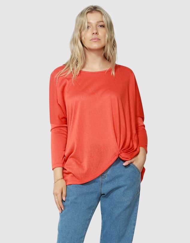 Atlanta 3/4 sleeve top  Betty Basics - shop online NZ Denim Den
