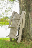 Amish Hand Crafted Premium Poly Woodgrain Adirondack Folding Chairs